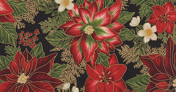 1 Yard PRECUTS Christmas Snowflake Gingham Red Cotton Fabric by The Yard
